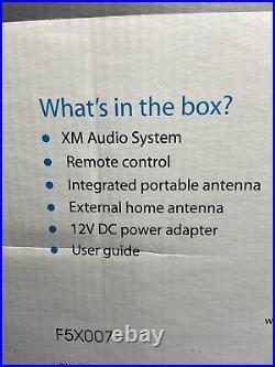 Sirius XM Audio System Satellite Radio Boombox portable Radio New Old Stock
