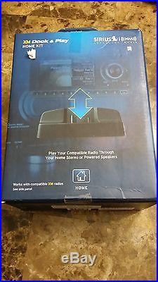 Sirius XM Dock & Play Home Kit Model XADH1 Satellite Radio Accessory. BRAND NEW