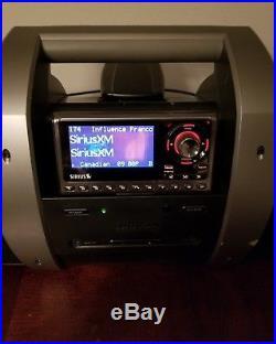 Sirius XM Satellite Radio SUBX1 Boombox with SPORTSTER SP5R Receiver LIFETIME SUB