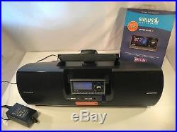 Sirius XM Sportster 5 SP5 Satellite Radio + SUBX2 Boombox + Car Kit Lifetime