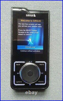 Sirius XM Stiletto Satellite Radio Receiver With Extra Batteries