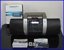 Sirius XM Stratus 7 SSV7 Satellite Radio & SUBX1 Boombox Radio Activated
