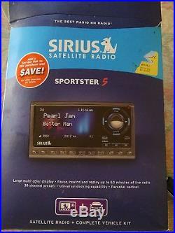 Sirius satellite radio sportster 5 receiver and vehicle kit, new
